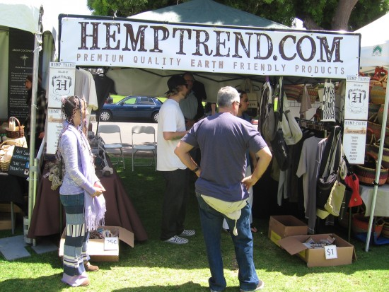 Hemp enthusiasts check out wares at EarthFair.
