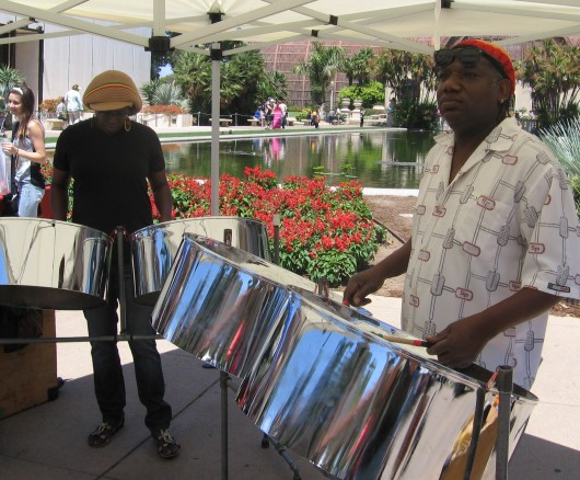 Mellow steel drum entertainment during EarthFair.