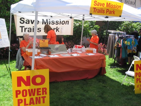 Activists oppose new power plant at Mission Trails Park.