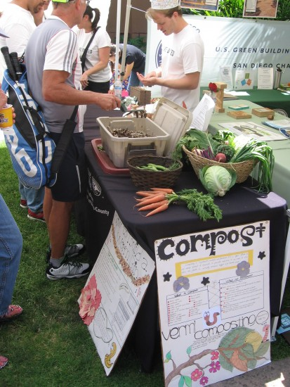 A table demonstrates the benefits of composting.