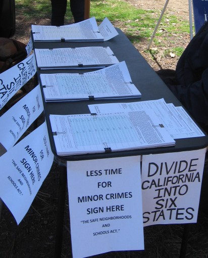 Petitions include dividing California into six states.
