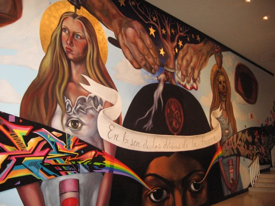 San Diego organization Writerz Blok helped to create this mural.