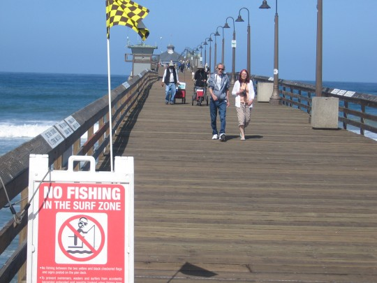 No fishing in the surf zone on Imperial Beach pier.