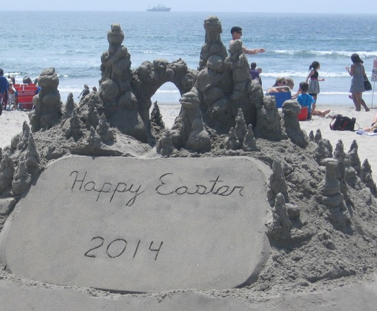 Sandcastle on Coronado Beach wishes a Happy Easter.
