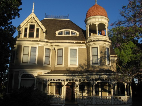 The grand Long-Waterman House on Bankers Hill.