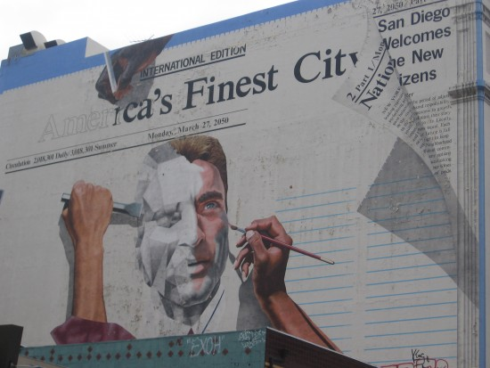 America's Finest City mural in downtown San Diego.