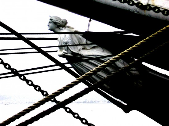 Figurehead of tall ship Star of India.