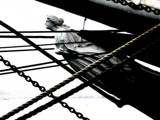 Figurehead of tall ship Star of India.