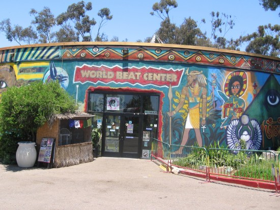 Front entrance of the WorldBeat Cultural Center in Balboa Park.