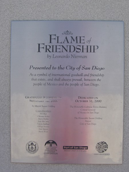 Friendship between San Diego and Mexico.