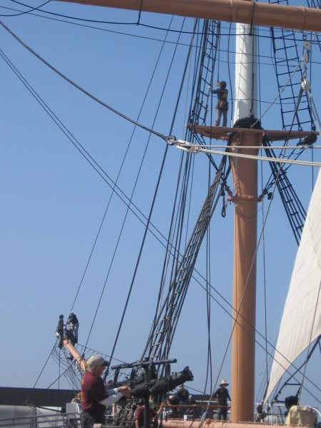 Maritime Museum members at work on Star of India.