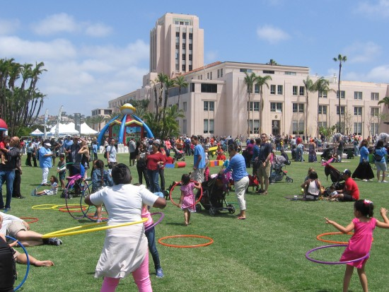 Lots of fun at County Administration Center Waterfront Park.