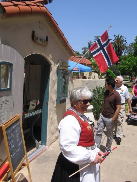 Norway cottage at Balboa Park International Village.