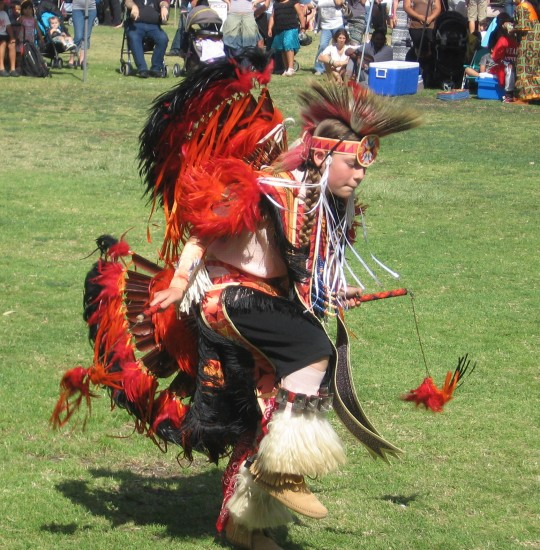 Young dancer at San Diego pow-wow.