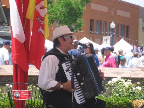 Various musicians played the accordion.