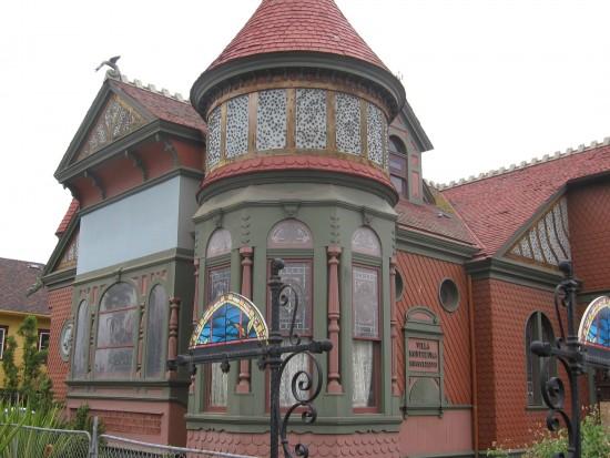 Villa Montezuma is a Queen Anne Victorian mansion.