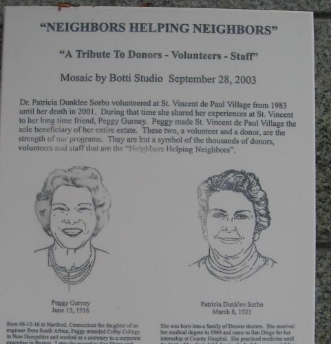 Volunteers and donors help neighbors.