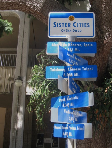 New sister city signs at the Civic Center!