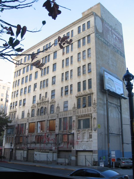 California Theatre's old marquee is long gone.