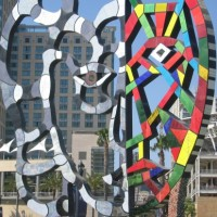 Duality in Coming Together mosaic sculpture.