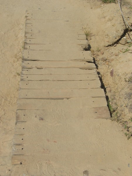 The Beach Trail is often covered in fine sand.
