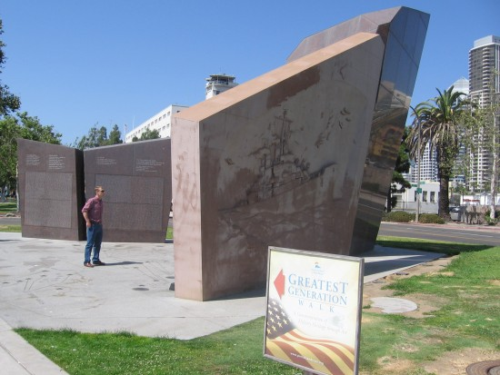 USS San Diego Memorial on the Greatest Generation Walk.