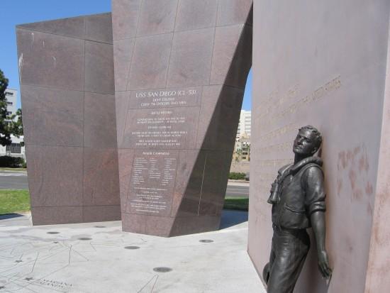 Monumental art remembers a famous World War II ship.