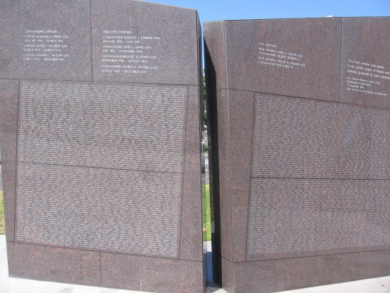 The names of those who served on USS San Diego.