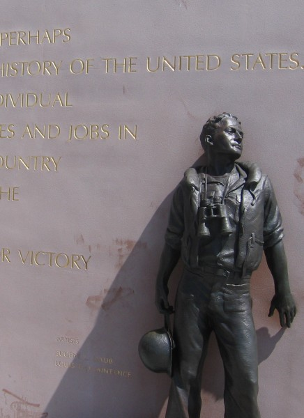 Sculpture of a crew member of USS San Diego.