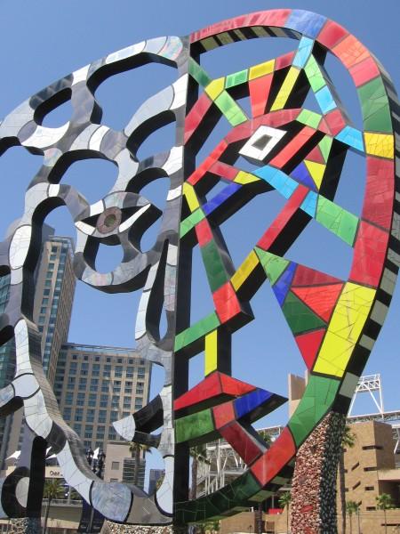Public art created by Niki de St. Phalle.