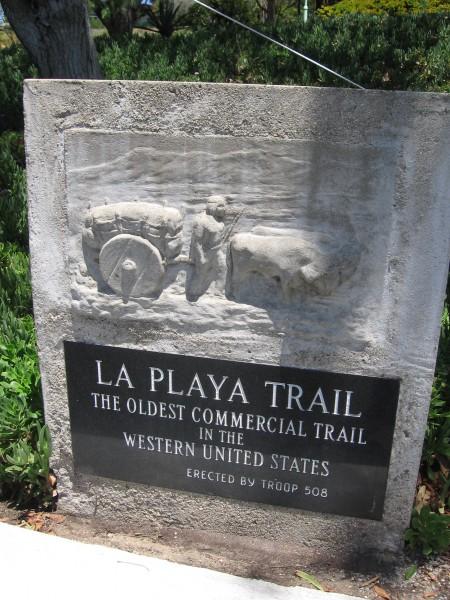 La Playa Trail ran along San Diego River from the bay.