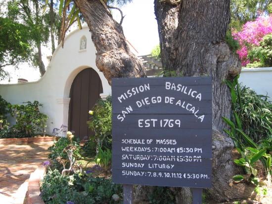 Mission Basilica San Diego de Alcala holds Catholic Mass.