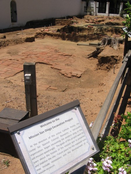Mission's old foundation investigated by archaeologists.