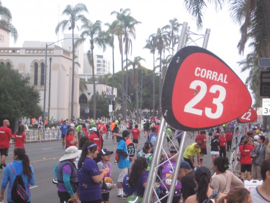 San Diego Rock 'n Roll Marathon corrals fill up.