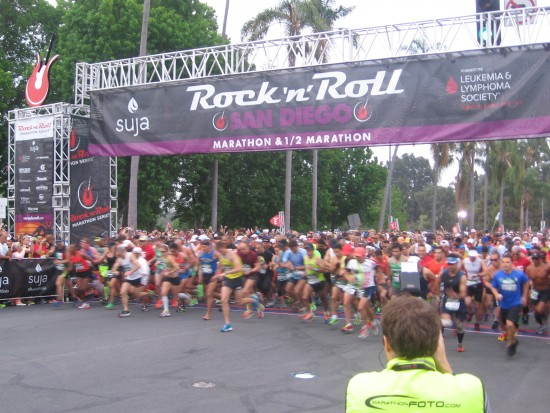 San Diego Rock 'n Roll full marathoners go!