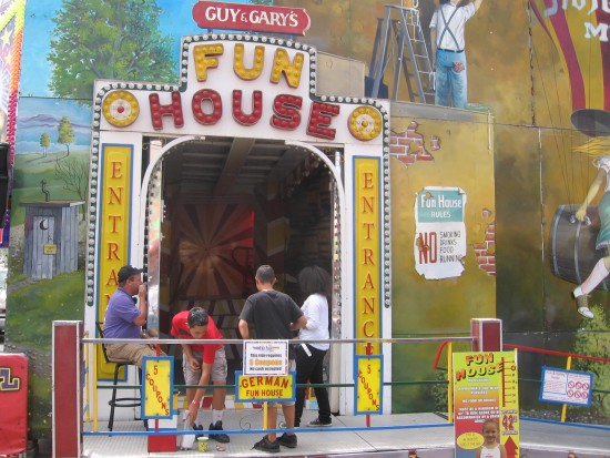The wacky Fun House lures fair-goers and one photo-taker.