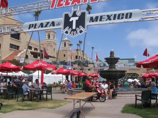 Tecate beer at Plaza de Mexico.