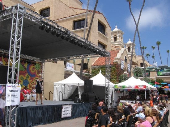 Ms. Senior Nevada performs on the Plaza Stage.
