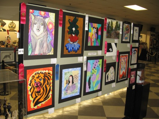 Student Showcase contains art by high school students.