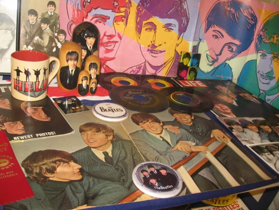Home and Hobby exhibition includes many Beatles collectibles.