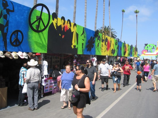 Lots of hippie-themed stuff to buy everywhere.