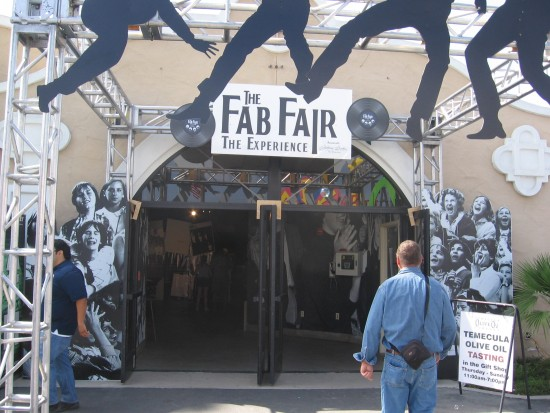 Man walks into the Fab Fair Experience.