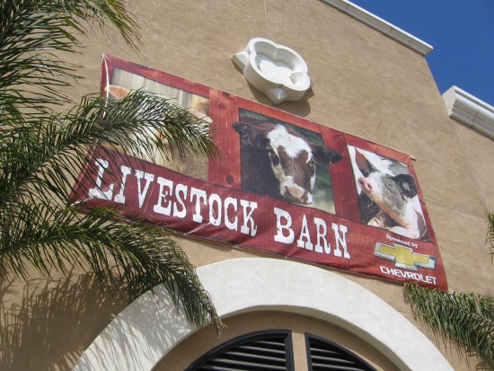 Sign above the Livestock Barn.