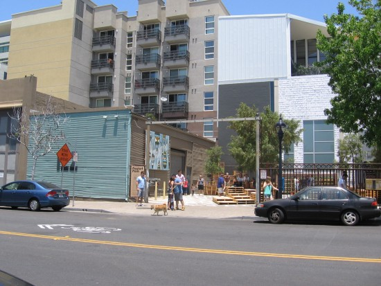 New pocket park in East Village in downtown San Diego.
