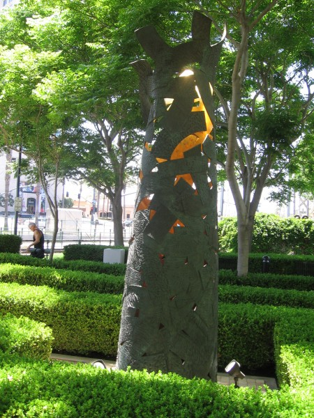Shedding the Cloak sculpture in San Diego.