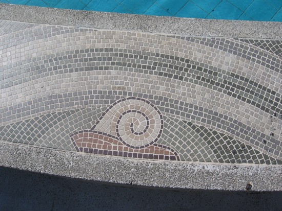 Sea snail on basin of the Guardian of Water.
