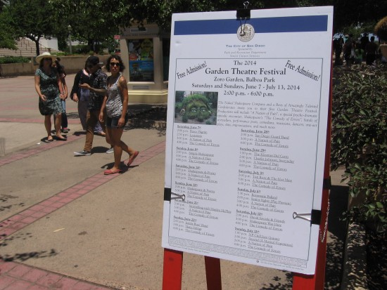 Garden Theatre Festival takes place during the summer in Balboa Park.