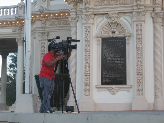 KUSI television cameraman records a portion of the event.
