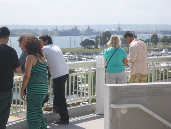 People enjoy amazing view of San Diego Bay.