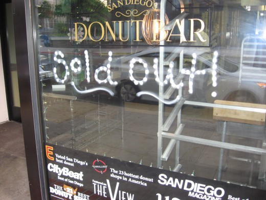 Oh no! The Donut Bar is Sold Out!
